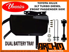 VONNIES TOYOTA HILUX T/DIESEL PASSENGER FRONT DUAL BATTERY TRAY SYSTEM 2000-2005
