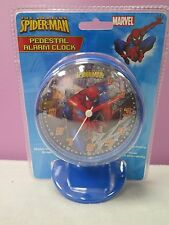THE AMAZING SPIDERMAN PEDESTAL ALARM CLOCK GLOW IN THE DARK GRAPHICS NEW SEALED