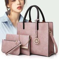 Damenmode Solide Tassel Zip Handtasche Schultertasche Brieftasche Set CHPH