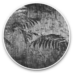 2 x Vinyl Stickers 10cm (bw) - Floral Distressed Tropical Art  #42491