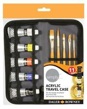 Daler Rowney Simply Acrylic Travel Case Paint and Brushes