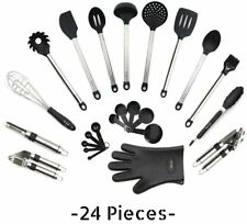 Utensils Set - 24-Piece Complete Silicone Cooking Kitchen Tools Set , Cookware