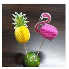 20pcs/set Flamingo pineapple Cupcake FruitsToppers Picks Birthday Hawaii Party