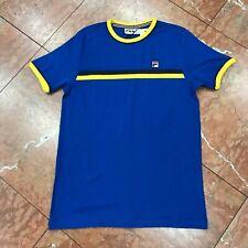 Men's Fila Royal Blue | Yellow Short Sleeve Tee Shirt.