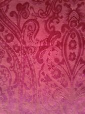 New listing Vintage Ralph Lauren Damask Holiday Table Cloth Tablecloth Red Rose 140 X68 inch