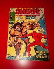 Daredevil #79 1971 Murder Cries The Man-Bull Bagged - Boarded
