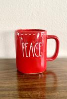 "*2020 HOLIDAY COLLECTION!* Rae Dunn Red ""PEACE"" Holiday Mug"