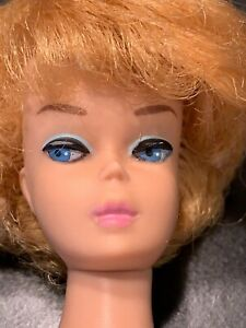 1962 Vintage Barbie #850 White Ginger/Platinum Transitional Bubblecut Doll