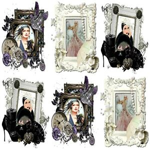 PEARLS AND ART DECO  Embellishments (12), Card Making Toppers, Card Toppers