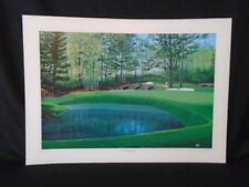 George Griff Augusta National #11 Dogwood Masters Golf Lithograph