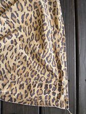 RALPH LAUREN Aragon brown black leopard print bed sheet FLAT TWIN