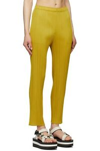 Issey Miyake Pleats Please Yellow Monthly Colors May Yellow Trouser Size 3