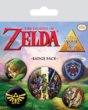 Official The Legend Of Zelda Triforce Shield Badge Pack Of 5 Novelty Gaming Gift