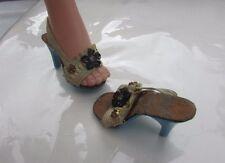 Madame Alexander Cissy Doll 1956 Shoes Rhinestone Flowers Blue High Heels