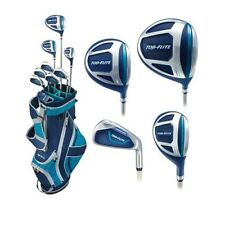 Top Flite Golf XL Women's Complete Box Club Set Ladies Teal Blue NEW LEFT HANDED