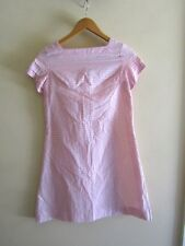 Vintage semi sheer pink shift dress rockabilly pinup Jackie O