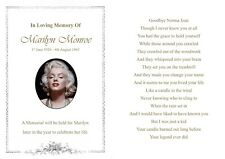 20  Memorial Card / Funeral Card - A6 - Printed both sides