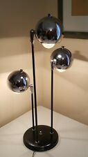 Mid Century Chrome Eyeball Table Lamp (Robert Sonneman 1970s)