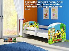 CHILDREN KIDS BED + MATTRESS + FREE DELIVERY TODDLER 60 DESIGNS
