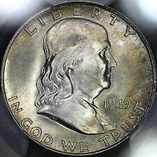 1949-D Franklin Half Dollar 50C PCGS MS65FBL - Colorful Toning