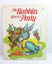 THE RABBITS GIVE A PARTY Lucie Dermine Simonne Baudoin Children's Book 1976