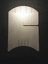 VIOLIN BRIDGE MAKING TEMPLATE TOOL, STRING SPACING MARKER & BOW RE-HAIR GAUGE