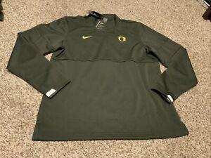 Nike Oregon Ducks 1/2 Zip Shirt L/S Men's Size: 4XL-Tall  NWT Nightmare Green