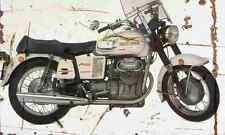 MotoGuzzi V7 1970 Aged Vintage Photo Print A4 Retro poster
