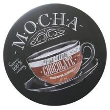 100% Mocha Hot Milk Chocolate Espresso Metal Round Tin Sign DIY Decor Plaque