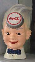 Figur Coca Cola Skulptur Büste Dekoration Dekofigur Werbefigur Gips Deko Rep