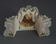 Klappkarte mit Hl. Franziskus um 1910 (# 11247)