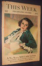 This Week Magazine Philadelphia Record Feb 24,1935 Andrew Loomis ,Sinclair Lewis