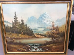 Oil painting by J Wenes