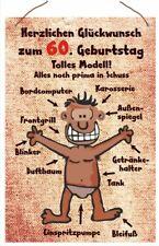 Geburtstagsschild 60.Geburtstag tolle Geschenkidee alle Jahre lieferbar Nr. 9800
