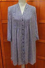 NEW Diane von Furstenberg DVF Layla Check Dot Tiny Blue Dress 6 S M $468