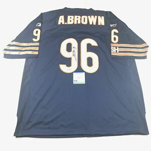 Alex Brown Signed Jersey PSA/DNA Chicago Bears Autographed