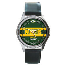 Green Bay Packers NFL Round Metal Watch Gift