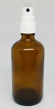 2x Braunglasflasche 100 ml DIN 18 Pumpzerstäuber Flasche Zerstäuber Sprühkopf