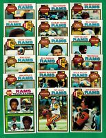 1979 Topps Football Los Angeles Rams Complete team set -
