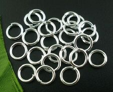 500 PCs  Silver Plated Alloy Open Jump Rings 7mm Dia x 1mm thick(B03065)