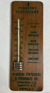 Antique Planters Fertilizers Phosphate Co Charleston SC Advertising Thermometer