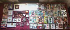 Junk Drawer Lot 22Kt Gold Stamp,Coins,Pen Stapler,Zippo,Cards,Knife,Fishing