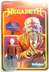 Megadeth Vic Rattlehead Reaction figure Super 7 38724