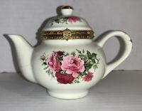 Formalities by Baum Bros Floral Teapot Trinket Box