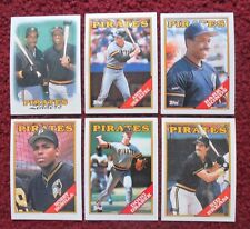 1988 Topps Pittsburgh Pirates Baseball Team Set (28 Cards) ~ Barry Bonds BONILLA
