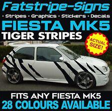 FORD FIESTA MK5 GRAPHICS TIGER STRIPES DECALS STICKERS 1.2 1.6 1.8 16V ZETEC