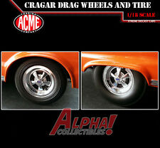 ACME A1806702W 1:18 CRAGAR DRAG WHEELS AND TIRES SET OF 4