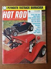Hot Rod Magazine July 1964 - Plymouth Barracuda - Dodge Charger - Ford GT