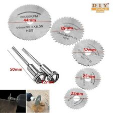 DIY Crafts® Rotary Tools 7 Pcs HSS Circular Wood Cutting Blade Saw Disc Mandrelh