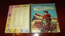TALES OF WELLS FARGO #189:30 RARE Little golden book SYD John Leone HORSE 1958